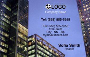 Commercial Building Business Cards Credit Card Template: 319535