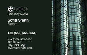 Commercial Building Business Cards Credit Card Template: 319538