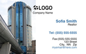 Commercial Building Business Cards Credit Card Template: 319524