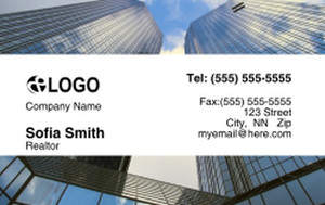 Commercial Building Business Cards Credit Card Template: 319543