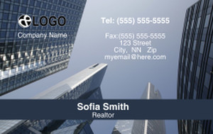 Commercial Building Business Cards Credit Card Template: 319548