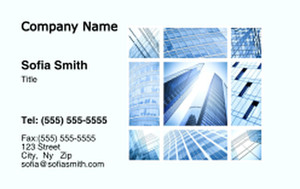 Commercial Building Business Cards Credit Card Template: 329004