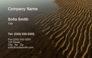 Beach / Waterfront / Scenery Business Cards Credit Card Template: 325787