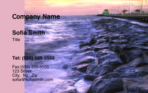 Button to customize design Beach / Waterfront / Scenery Business Cards Credit Card Template: 325788
