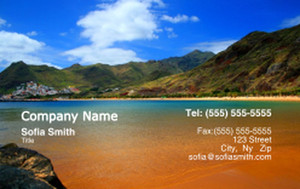 Button to customize design Beach / Waterfront / Scenery Business Cards Credit Card Template: 325789