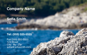 Button to customize design Beach / Waterfront / Scenery Business Cards Credit Card Template: 325790