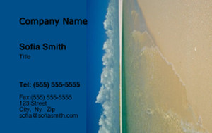 Button to customize design Beach / Waterfront / Scenery Business Cards Credit Card Template: 325791