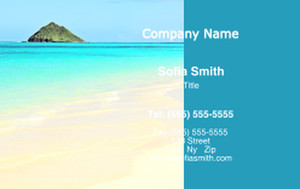 Button to customize design Beach / Waterfront / Scenery Business Cards Credit Card Template: 325782