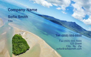 Beach / Waterfront / Scenery Business Cards Credit Card Template: 325783