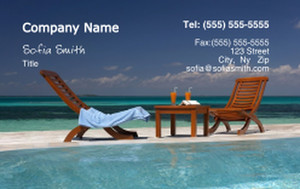 Beach / Waterfront / Scenery Business Cards Credit Card Template: 325784
