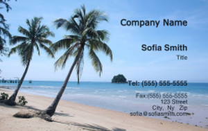 Button to customize design Beach / Waterfront / Scenery Business Cards Credit Card Template: 325785