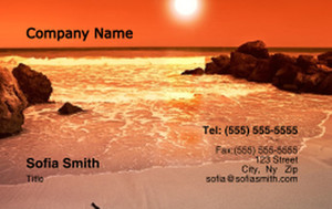 Beach / Waterfront / Scenery Business Cards Credit Card Template: 325786