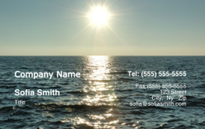Button to customize design Beach / Waterfront / Scenery Business Cards Credit Card Template: 325771