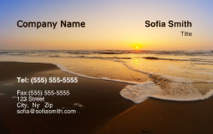 Button to customize design Beach / Waterfront / Scenery Business Cards Credit Card Template: 325772