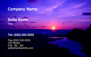 Button to customize design Beach / Waterfront / Scenery Business Cards Credit Card Template: 325773