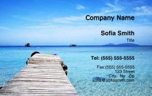 Beach / Waterfront / Scenery Business Cards Credit Card Template: 325774