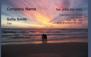 Beach / Waterfront / Scenery Business Cards Credit Card Template: 325775