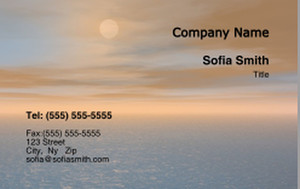 Beach / Waterfront / Scenery Business Cards Credit Card Template: 325761