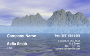 Beach / Waterfront / Scenery Business Cards Credit Card Template: 325763