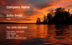 Beach / Waterfront / Scenery Business Cards Credit Card Template: 325764