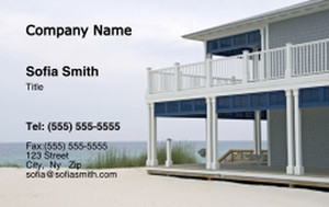 Beach / Waterfront / Scenery Business Cards Credit Card Template: 325741