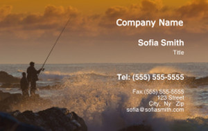 Beach / Waterfront / Scenery Business Cards Credit Card Template: 325749