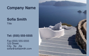 Beach / Waterfront / Scenery Business Cards Credit Card Template: 325750