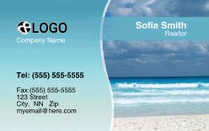 Beach / Waterfront / Scenery Business Cards Credit Card Template: 320055