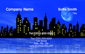 Beach / Waterfront / Scenery Business Cards Credit Card Template: 325742