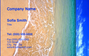 Beach / Waterfront / Scenery Business Cards Credit Card Template: 325779