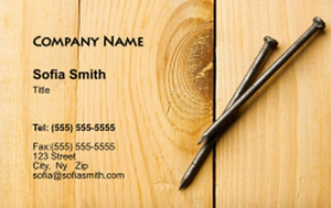 . General Construction / Renovation Business Cards Credit Card Template: 354636