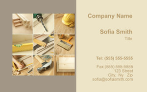 . General Construction / Renovation Business Cards Credit Card Template: 354637