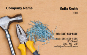 . General Construction / Renovation Business Cards Credit Card Template: 354639