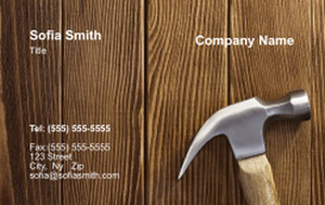 . General Construction / Renovation Business Cards Credit Card Template: 354624