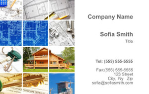 . General Construction / Renovation Business Cards Credit Card Template: 354628