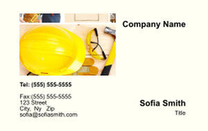 . General Construction / Renovation Business Cards Credit Card Template: 354616