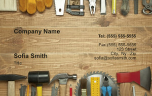 . General Construction / Renovation Business Cards Credit Card Template: 354640