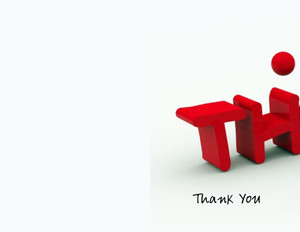 Thank you Greeting Cards Portrait Template: 332615