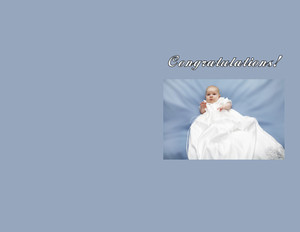 Baptism & Christening - Greeting Greeting Cards Portrait Template: 349784
