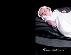 Baptism & Christening - Greeting Greeting Cards Portrait Template: 349763