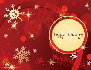 Button to customize design Weichert Holiday Greeting Cards Portrait Template: 519083