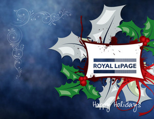 Button to customize design Royal Le Page Holiday Greeting Cards Portrait Template: 518999