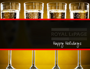 Button to customize design Royal Le Page Holiday Greeting Cards Portrait Template: 370243