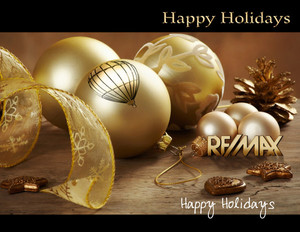 Button to customize design Remax Holiday Greeting Cards Portrait Template: 578079