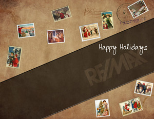 Button to customize design Remax Holiday Greeting Cards Portrait Template: 370082