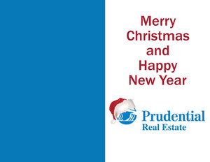 Prudential Holiday Greeting Cards Portrait Template: 324527