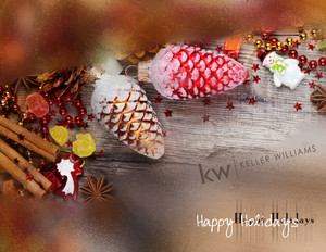 Button to customize design Keller Williams Holiday Greeting Cards Portrait Template: 578291