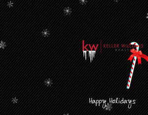 Button to customize design Keller Williams Holiday Greeting Cards Portrait Template: 517487