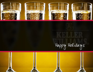 Button to customize design Keller Williams Holiday Greeting Cards Portrait Template: 370109