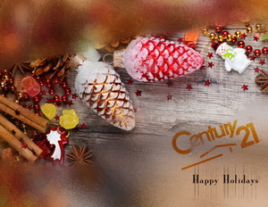 Button to customize design Century 21 Holiday Greeting Cards Portrait Template: 579197